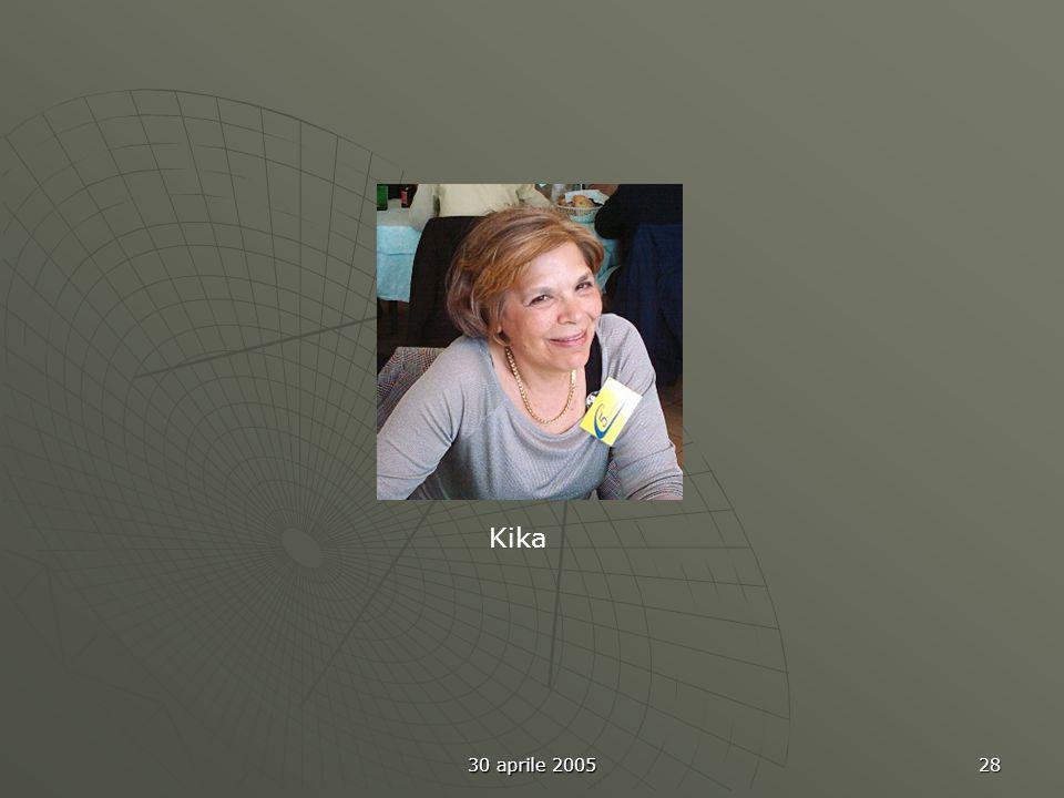 30 aprile 2005 28 Kika