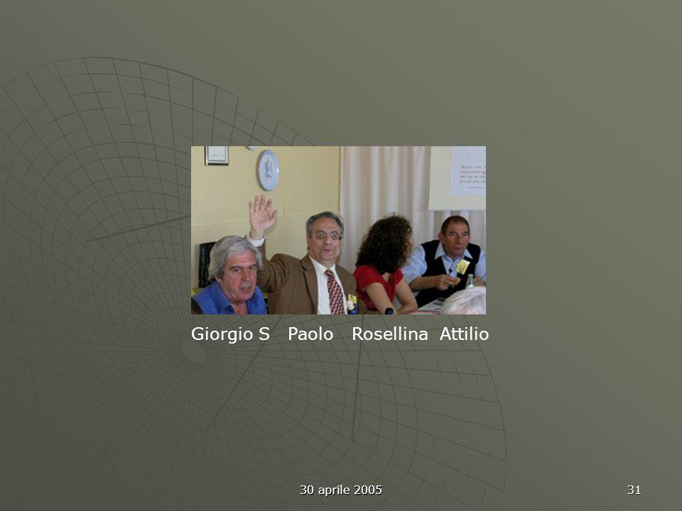 30 aprile 2005 31 Giorgio S Paolo Rosellina Attilio