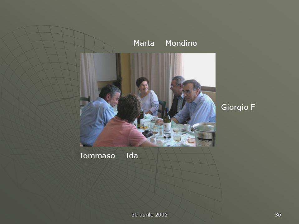 30 aprile 2005 36 Tommaso Ida Giorgio F Marta Mondino