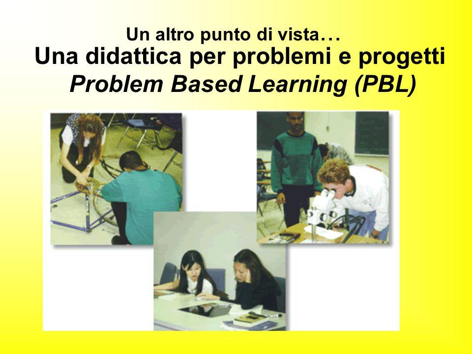 Un altro punto di vista... Una didattica per problemi e progetti Problem Based Learning (PBL)