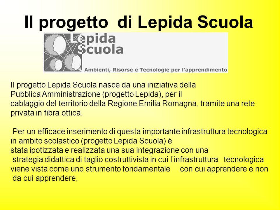 Il progetto Lepida Scuola nasce da una iniziativa della Pubblica Amministrazione (progetto Lepida), per il cablaggio del territorio della Regione Emil