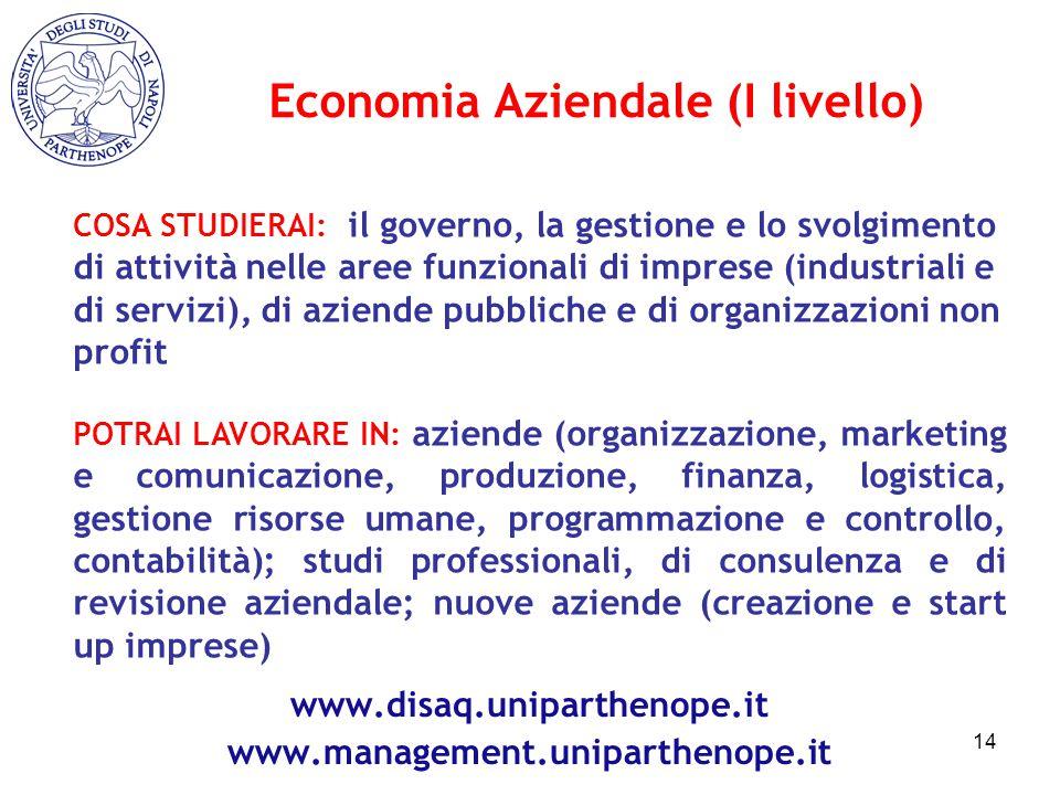 COSA STUDIERAI: il governo, la gestione e lo svolgimento di attività nelle aree funzionali di imprese (industriali e di servizi), di aziende pubbliche