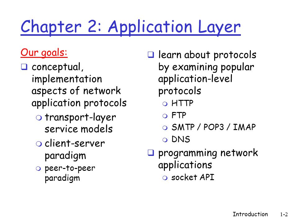 Introduction1-113 Socket programming with TCP Example client-server app: 1) client reads line from standard input ( inFromUser stream), sends to server via socket ( outToServer stream) 2) server reads line from socket 3) server converts line to uppercase, sends back to client 4) client reads, prints modified line from socket ( inFromServer stream) Client process client TCP socket