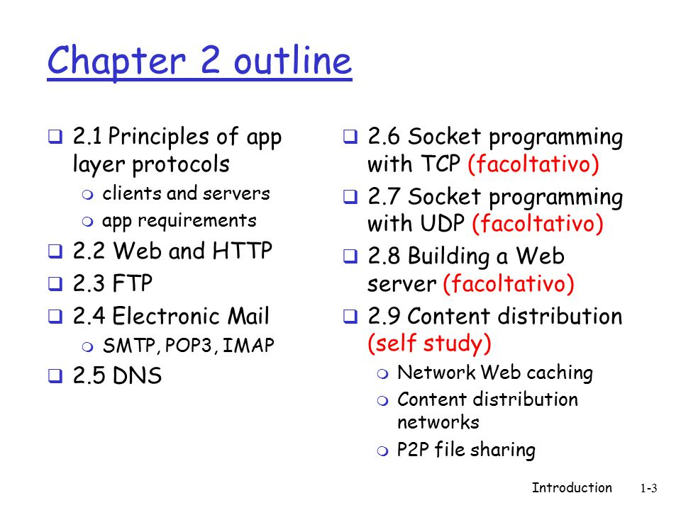 Introduction1-104 Esercizi e seminari  Scoprire per quali messaggi DNS usa la porta 53 e il TCP (invece che l'UDP)  2004-Seminario su configurazioni del DNS  2005-Seminario su DNSSEC (due persone) dopo che abbiamo fatto crittografia (novembre) m www.dnssec.net