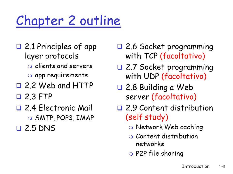 Introduction1-14 Seminari approfondimento  2004: QoS  2004: Teleconferenze