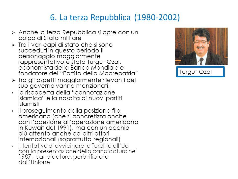 6. La terza Repubblica (1980-2002)  Anche la terza Repubblica si apre con un colpo di Stato militare  Tra i vari capi di stato che si sono succeduti