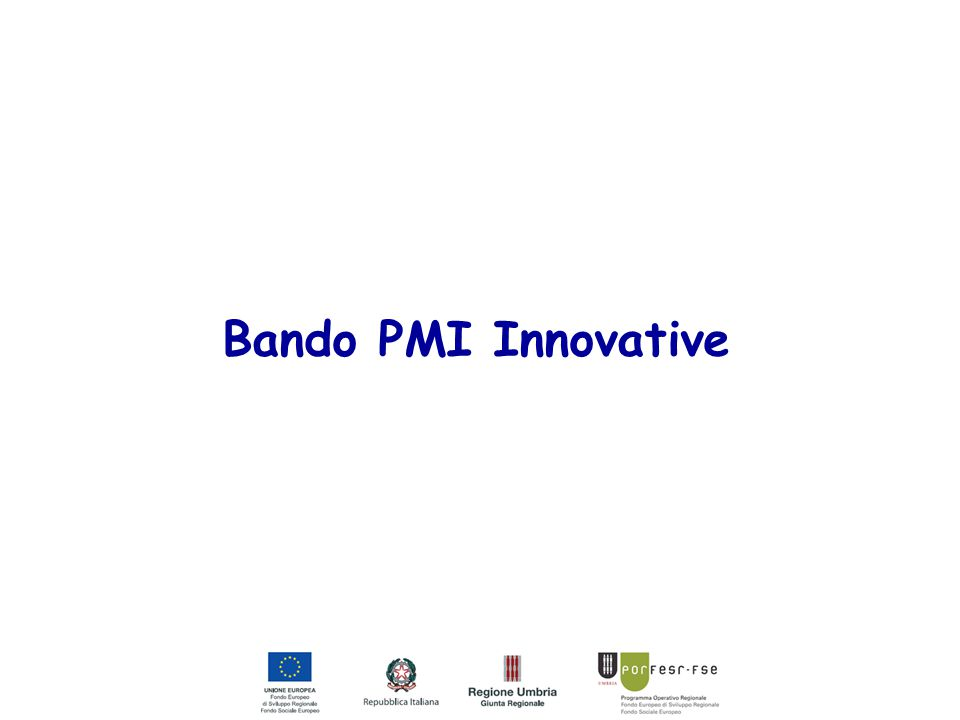 Bando PMI Innovative