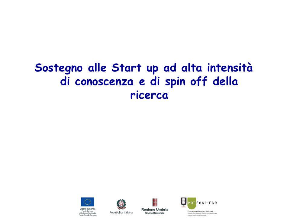 A CHI E' RIVOLTO start-up per l'industrializzazione di brevetti e privative spin-off di natura industriale spin-off accademici start up e PMI innovative di cui al dl 179/2012 Costituite sotto forma di società di capitali Unità produttiva in Umbria