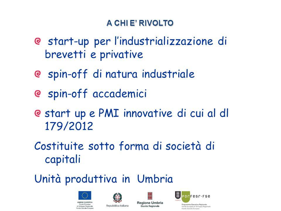 PIA Innovazione (4) MISURA DELLE AGEVOLAZIONI TIPOLOGIE PROGETTUALI Reg.