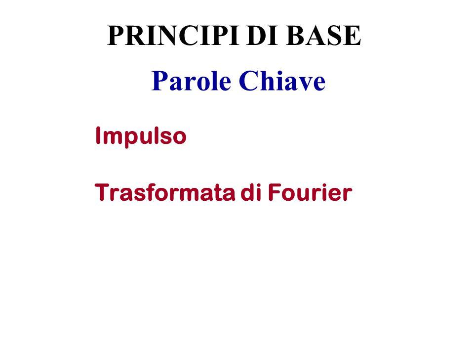 Parole Chiave Impulso Trasformata di Fourier PRINCIPI DI BASE