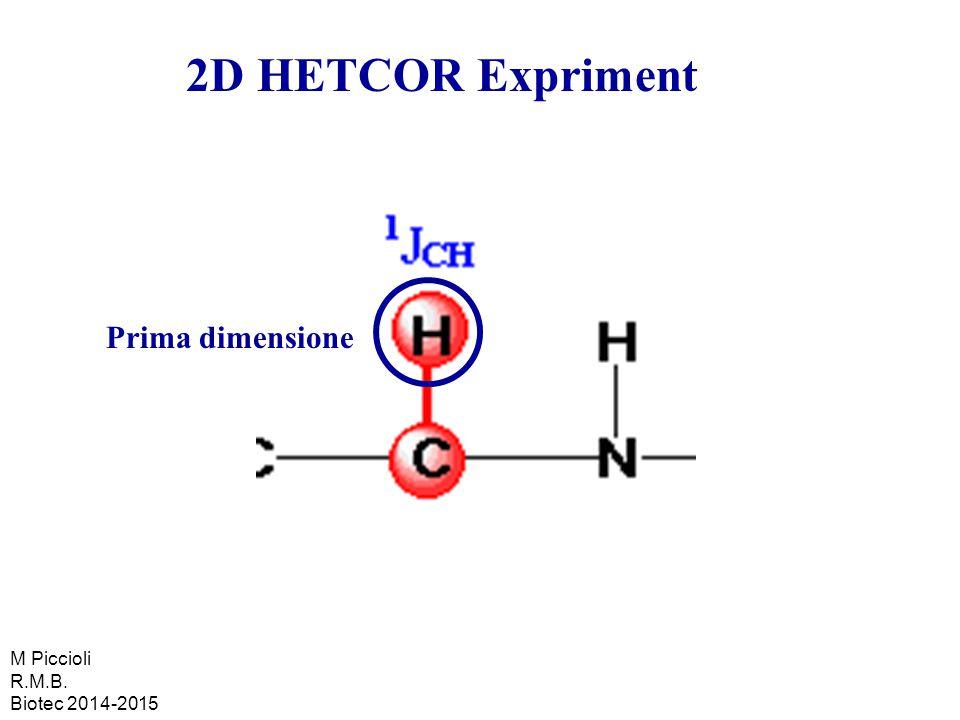 2D HETCOR Expriment Prima dimensione M Piccioli R.M.B. Biotec 2014-2015