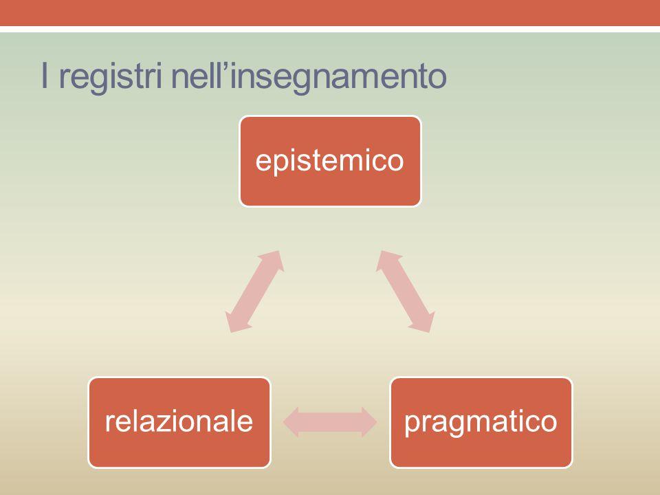 I registri nell'insegnamento epistemicopragmaticorelazionale