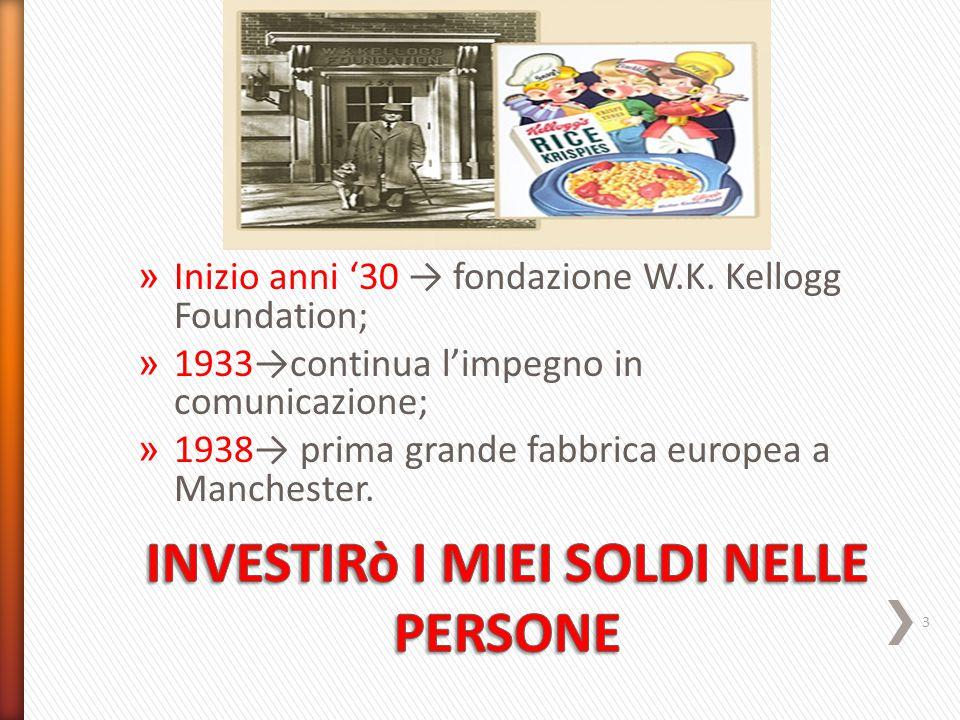 » Inizio anni '30 → fondazione W.K.