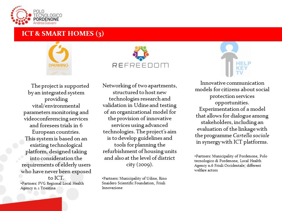 ICT & SMART HOMES (3) Innovative communication models for citizens about social protection services opportunities.