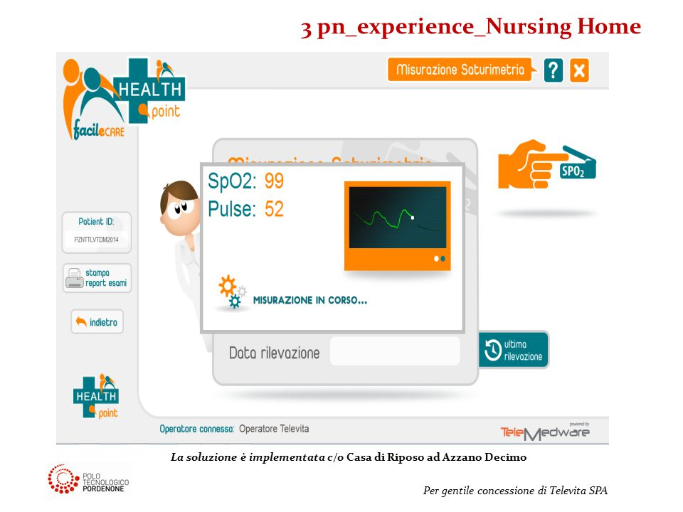 Per gentile concessione di Televita SPA La soluzione è implementata c/o Casa di Riposo ad Azzano Decimo 3 pn_experience_Nursing Home