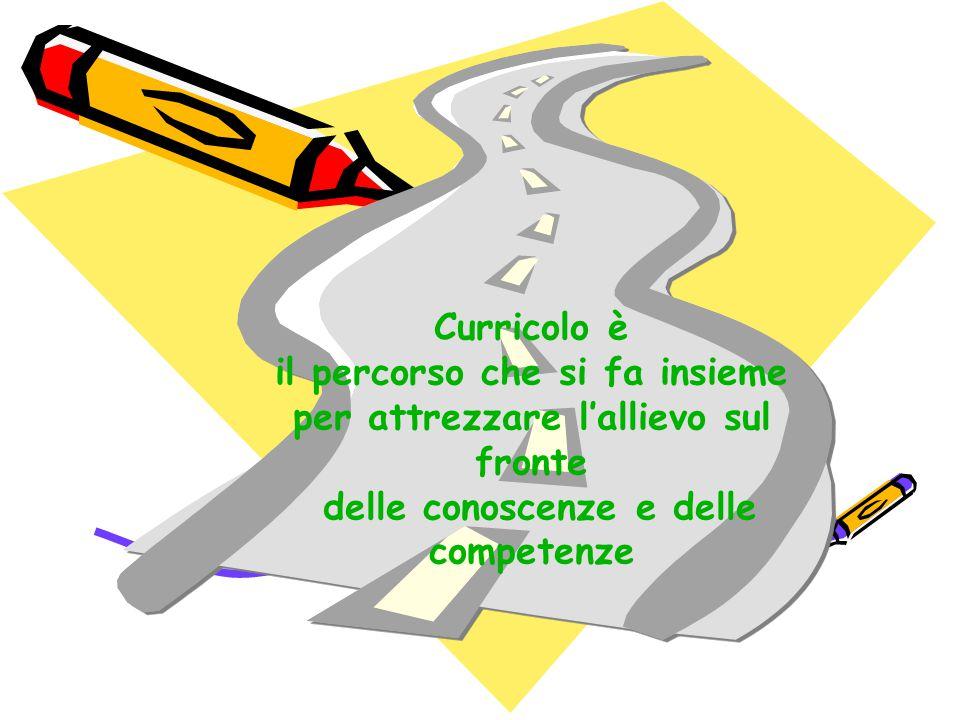 Curricolo è il percorso che si fa insieme per attrezzare l'allievo sul fronte delle conoscenze e delle competenze