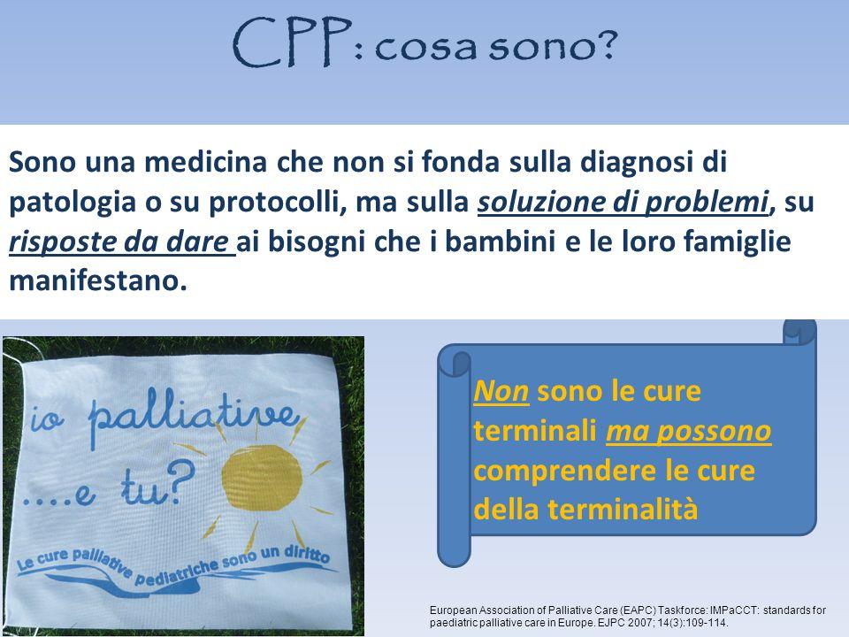 CPP: cosa sono? del corpo, della mente e dello spirito curandone aspetti sanitari e assistenziali, psicologici, sociali, economici, religiosi Presa in