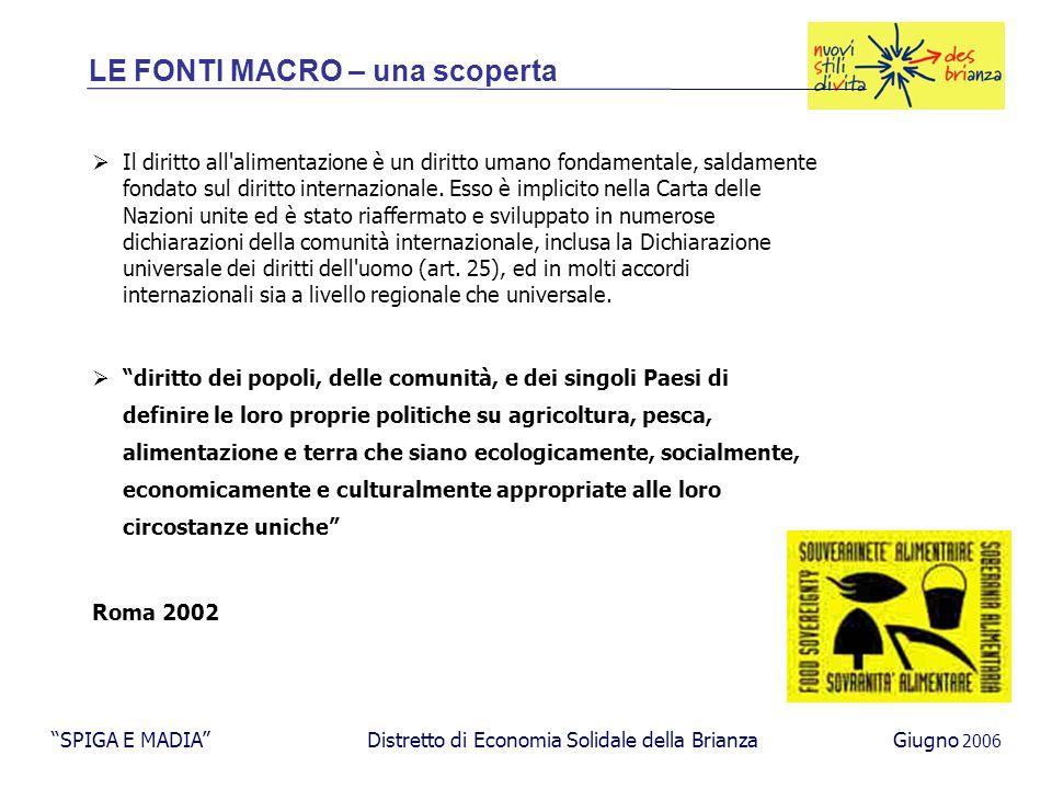 Produzione Grossista/GD PDV consumatore magazzino Produzione Grossista PDV consumatore magazzino Il quadro di riferimento del progetto: una nuova/vecchia catena logistica SPIGA E MADIA Distretto di Economia Solidale della BrianzaGiugno 2006