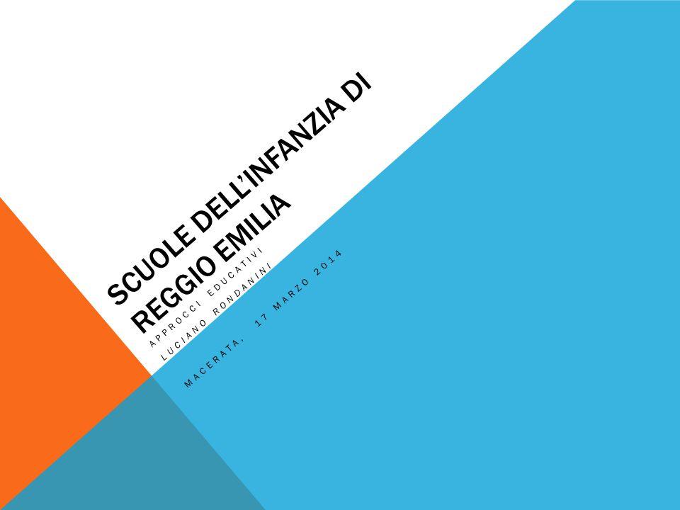 SCUOLE DELL'INFANZIA DI REGGIO EMILIA APPROCCI EDUCATIVI LUCIANO RONDANINI MACERATA, 17 MARZO 2014