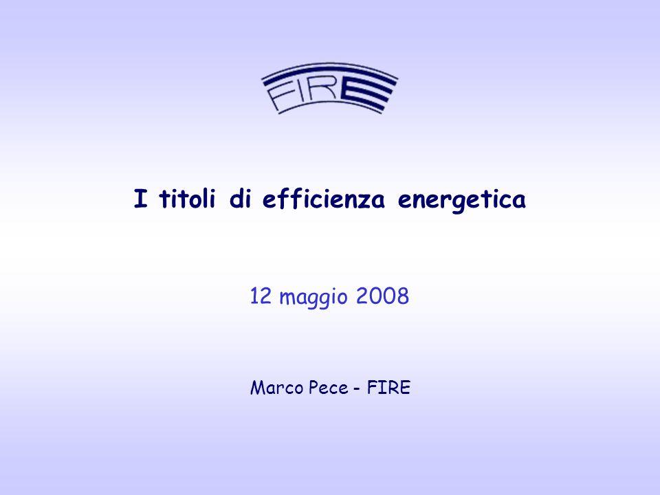 www.fire-italia.org 22 Estensione del diritto di rilascio dei titoli TEE ai soggetti con obbligo di nomina dell'energy manager, ai sensi dell'art.19 della Legge 10/91 In consultazione presso l'AEEG un documento necessario a definire la soglia minima di intervento in termini di tep risparmiati I DM del 21/12/2007 – novità per gli Energy Manager