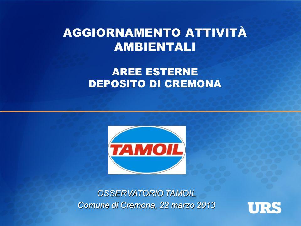 AGGIORNAMENTO ATTIVITÀ AMBIENTALI AREE ESTERNE DEPOSITO DI CREMONA OSSERVATORIO TAMOIL Comune di Cremona, 22 marzo 2013