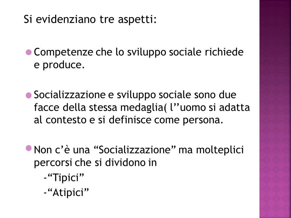 Competenze che lo sviluppo sociale richiede e produce. Socializzazione e sviluppo sociale sono due facce della stessa medaglia( l''uomo si adatta al c