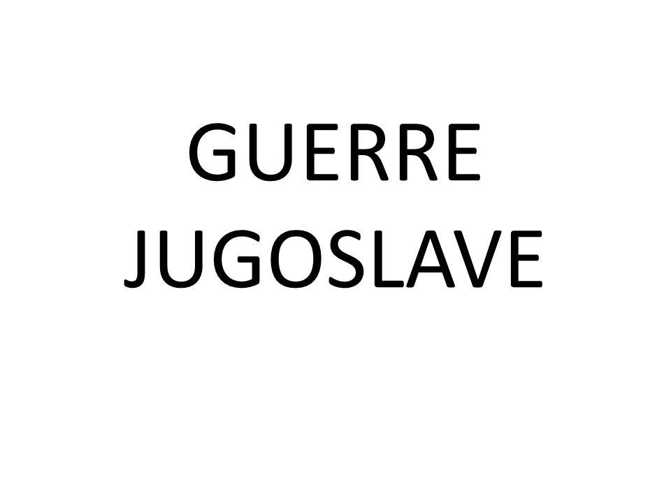Le guerre jugoslave sono state una serie di conflitti armati, che hanno coinvolto diversi territori appartenenti alla Repubblica Socialista Federale di Jugoslavia tra il 1991 e il 1995, causandone la dissoluzione.conflittiRepubblica Socialista Federale di Jugoslavia19911995dissoluzione