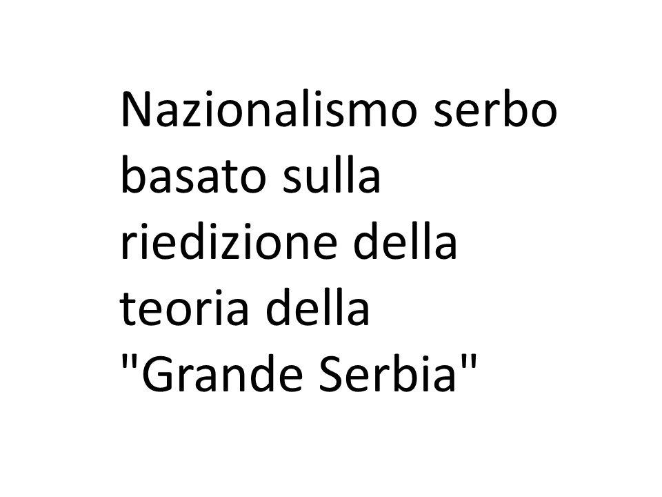 Nazionalismo serbo basato sulla riedizione della teoria della