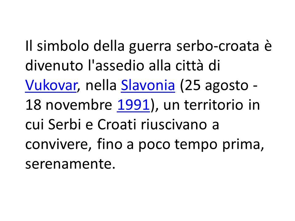 L 8 ottobre 1991 venne proclamato giorno dell indipendenza croata.