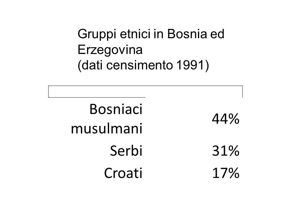 Mentre la guerra infuriava in Croazia, la Bosnia ed Erzegovina, formata da tre diverse etnie (Bosniaci, Serbi e Croati) era in una situazione di pace momentanea e instabile, in quanto le tensioni etniche erano pronte a esplodere.
