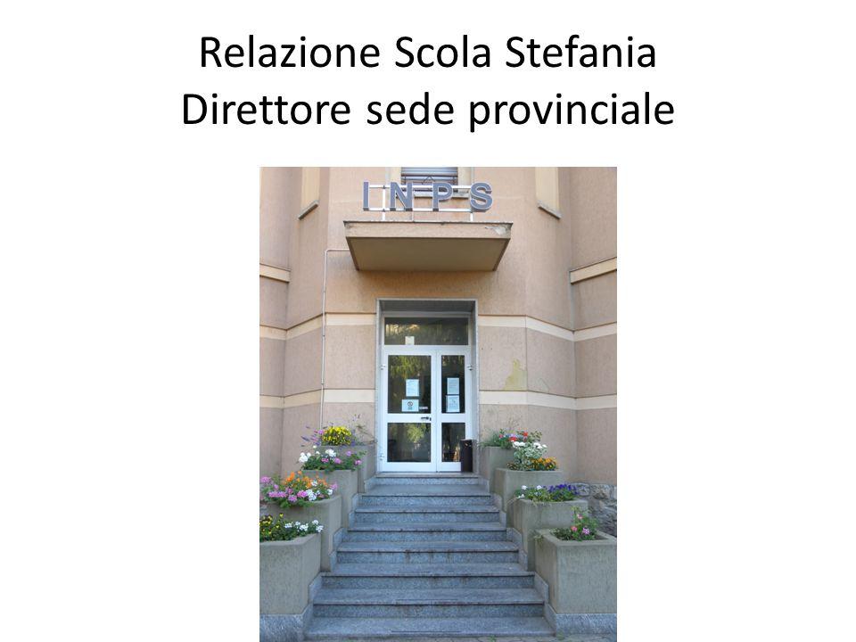 Relazione Scola Stefania Direttore sede provinciale