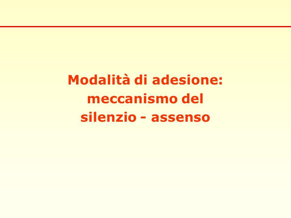 Modalità di adesione: meccanismo del silenzio - assenso