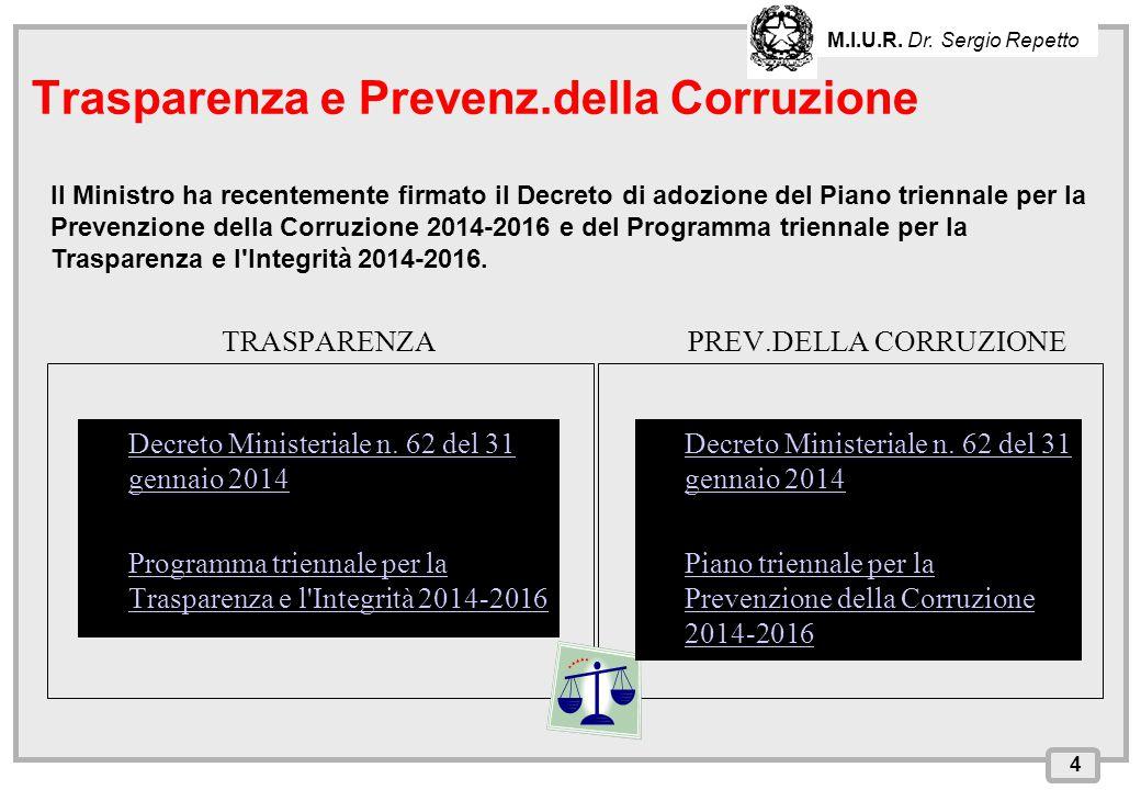 INPS – Direzione Provinciale di Cagliari TRASPARENZA Decreto Ministeriale n. 62 del 31 gennaio 2014Decreto Ministeriale n. 62 del 31 gennaio 2014Decre