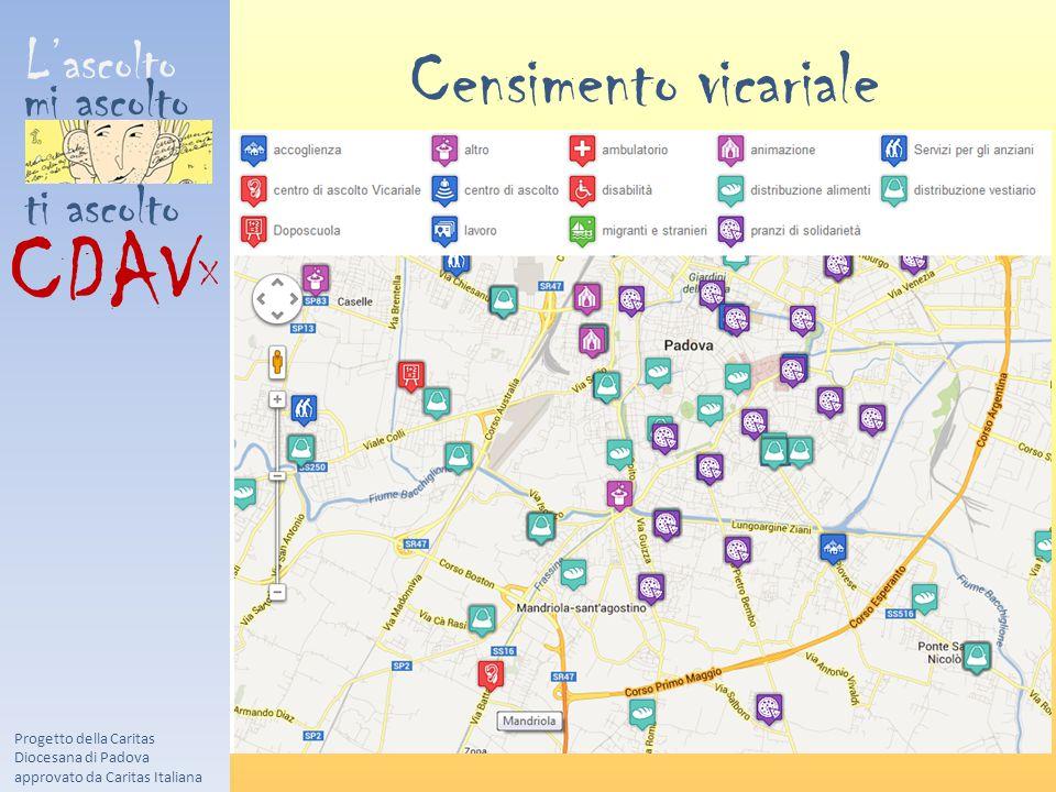 L'ascolto mi ascolto ti ascolto CDAV X Censimento vicariale Progetto della Caritas Diocesana di Padova approvato da Caritas Italiana