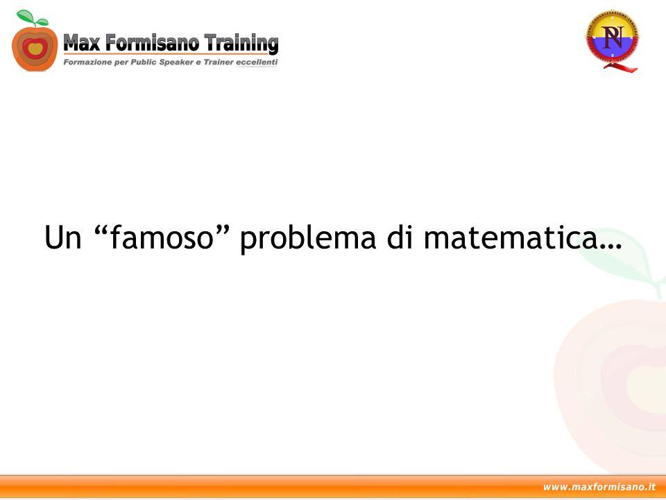 Un famoso problema di matematica…