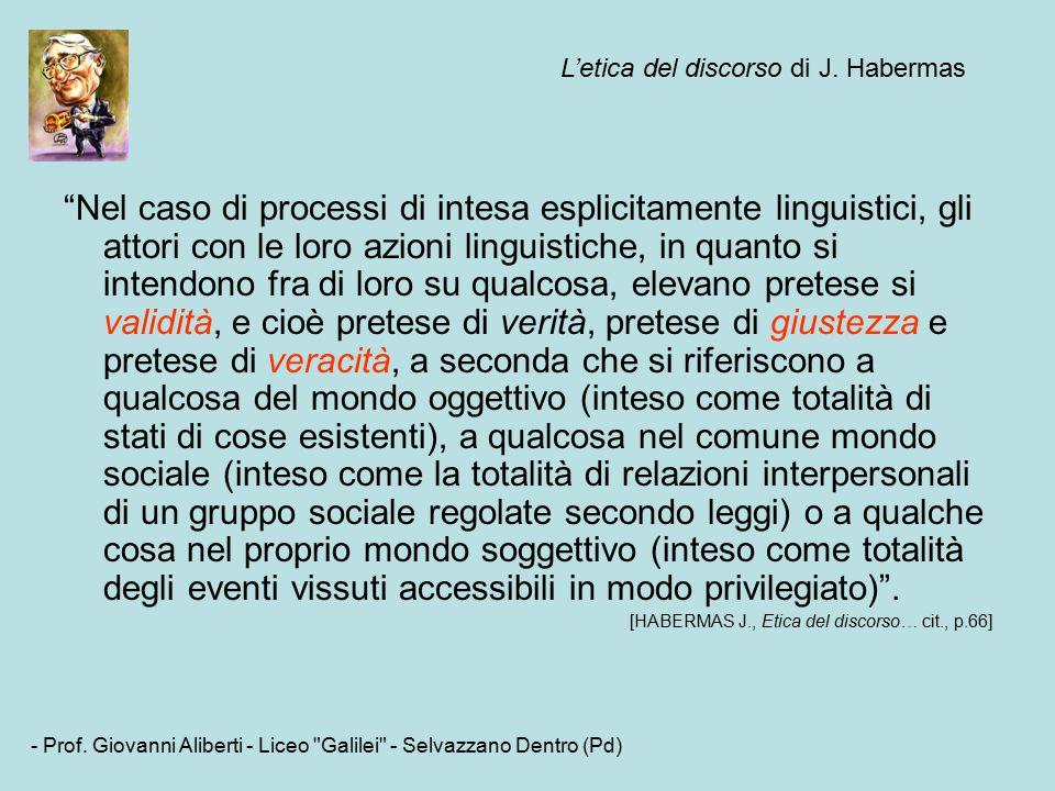 L'etica del discorso di J. Habermas - Prof. Giovanni Aliberti - Liceo