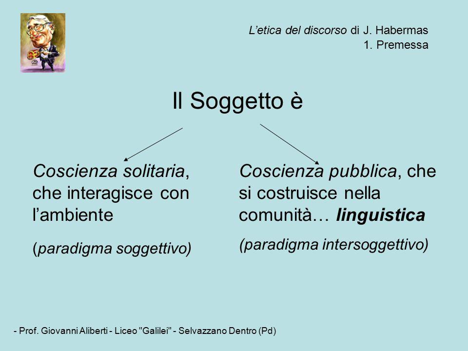L'etica del discorso di J. Habermas - Prof.