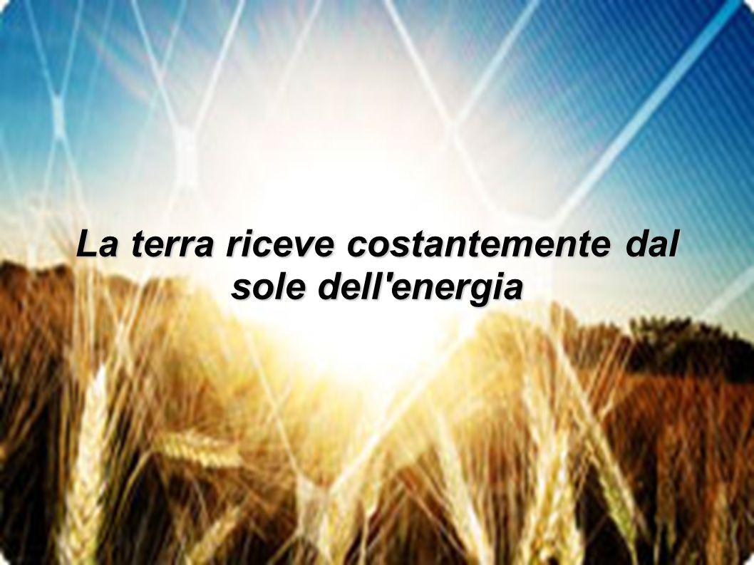 Quest energia, in un ora, equivale al consumo annuo di tutto il mondo