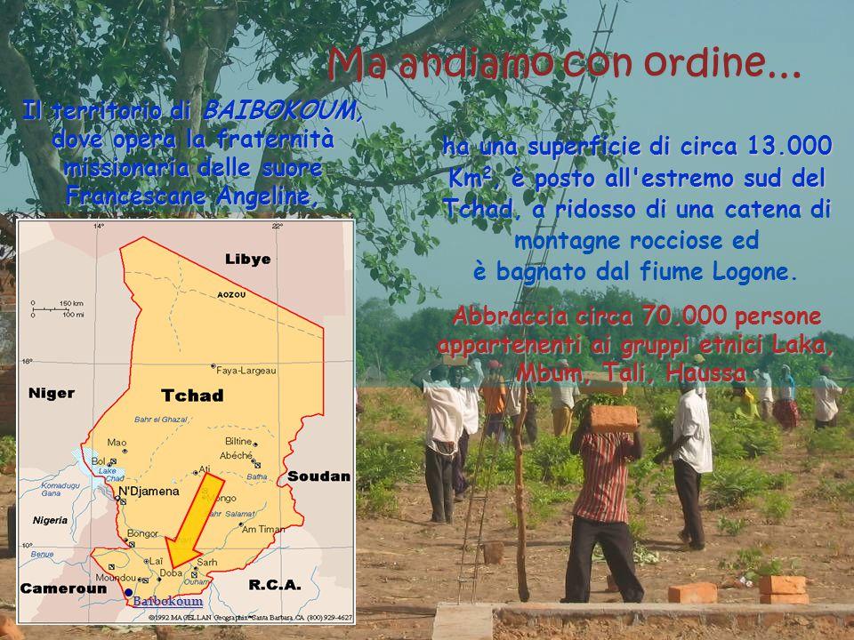 Ma andiamo con ordine… Baibokoum Il territorio di BAIBOKOUM, dove opera la fraternità missionaria delle suore Francescane Angeline, ha una superficie