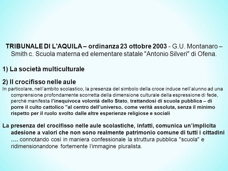 TRIBUNALE DI L AQUILA – ordinanza 23 ottobre 2003 - G.U.