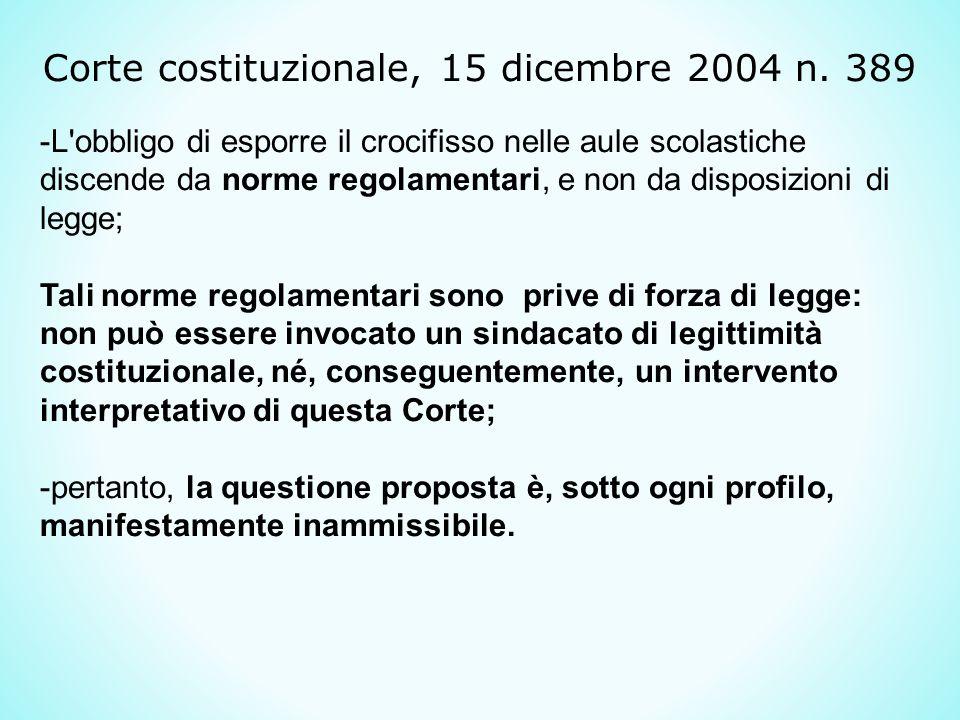 Corte costituzionale, 15 dicembre 2004 n.