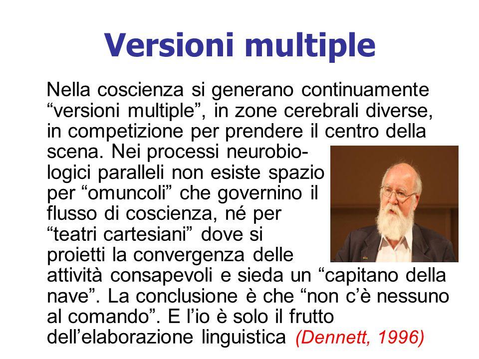 """Versioni multiple Nella coscienza si generano continuamente """"versioni multiple"""", in zone cerebrali diverse, in competizione per prendere il centro del"""