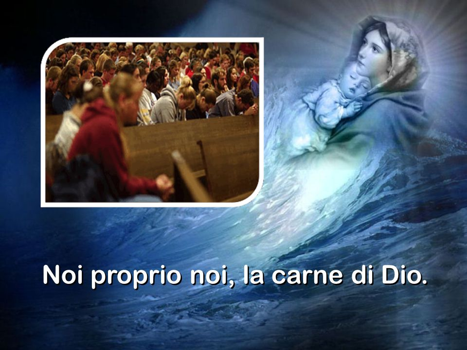 ma insieme con la meraviglia gioiosa della Madonna: ma insieme con la meraviglia gioiosa della Madonna: Ha fatto cose grandi in noi l'Onnipotente e ha guardato alla nostra miseria Ha fatto cose grandi in noi l'Onnipotente e ha guardato alla nostra miseria