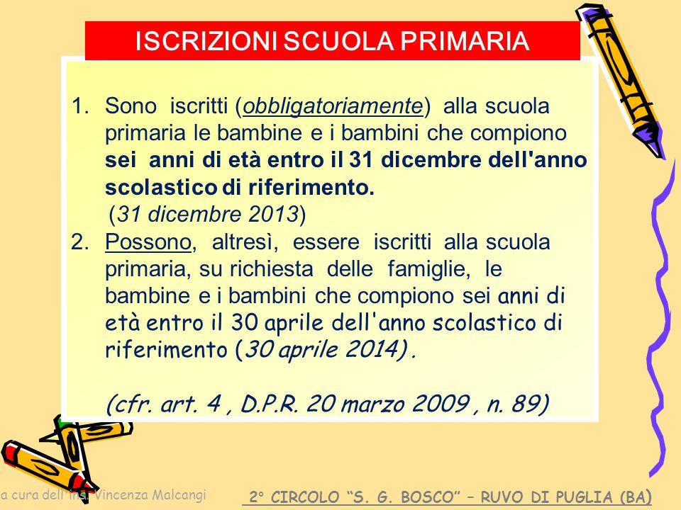 a cura dell ins.Vincenza Malcangi 2° CIRCOLO S. G.