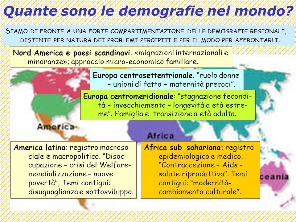 2 Quante sono le demografie nel mondo.Africa sub-sahariana: registro epidemiologico e medico.