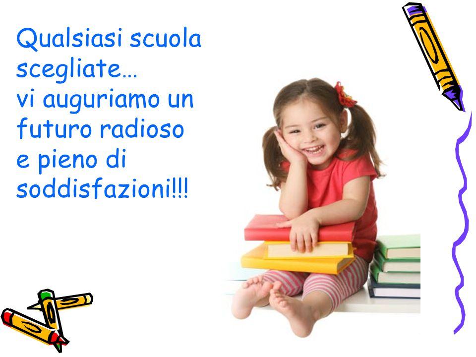 Qualsiasi scuola scegliate… vi auguriamo un futuro radioso e pieno di soddisfazioni!!!