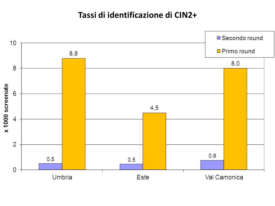 Tassi di identificazione di CIN2+