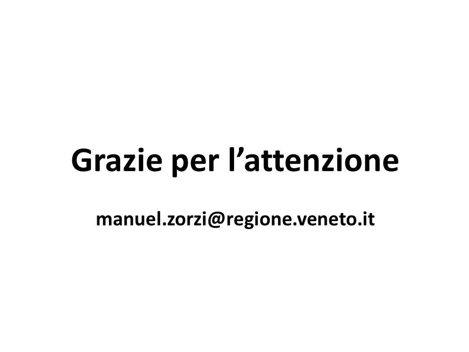 Grazie per l'attenzione manuel.zorzi@regione.veneto.it