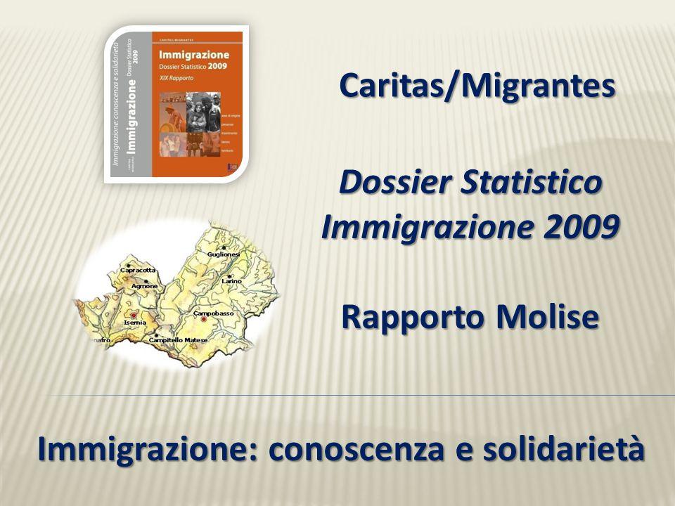 Dossier Statistico Immigrazione 2009 Rapporto Molise Caritas/Migrantes Immigrazione: conoscenza e solidarietà