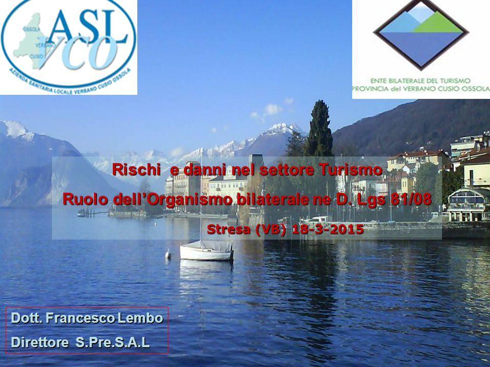 Andamento infortunistico nel settore alberghiero e della ristorazione Stresa – 18 marzo 2015